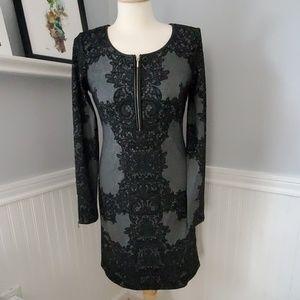 INC knit lace black dress sz S sz 4 work wear